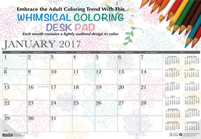 Win a 2017 Doodle Calendar Desk Pad by House of Doolittle.
